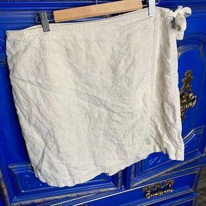J.Jill Women's 100% Linen Skort Skirt Shorts 18